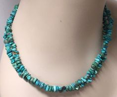 """CAROLYN POLLACK STERLING SILVER 925 DOUBLE STRAND TURQUOISE NECKLACE 18""""-22"""""""