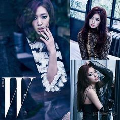 Park Shin-hye for 'W Korea' Magazine May Issue '16  - Love the dark theme! Her drama 'Doctors' will premiere on the 20th!