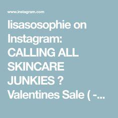 lisasosophie on Instagram: CALLING ALL SKINCARE JUNKIES ✨ Valentines Sale ( -20% !!! )on skincare - DM me for info 💌 #skincarejunkies #obsessed #makeupobsessed… Valentines Sale, Skincare, Audio, Make Up, Instagram, Skincare Routine, Skins Uk, Makeup, Skin Care