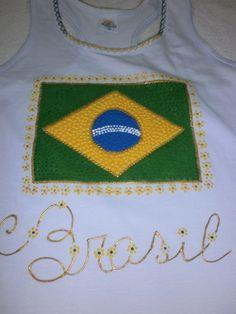 Camiseta Nadador com Bandeira do  Brasil
