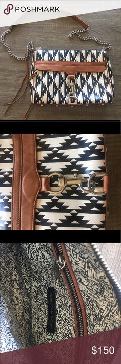 Rebecca Minkoff Ikat Large Mac RARE print- the black and white Ikat in large mac & can't be bought online. One of a kind. Gently used- see pictures. Interior in perfect condition Rebecca Minkoff Bags Shoulder Bags