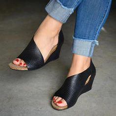 Buy 2 Get OFF Code : Item ID: Descriptions: Theme:Summer Style:Wedges,Casual Heel Type:Wedge Heel Gender:Women Shoes Style:Buckle Strap Heel Height:Med Toe Type:Peep Toe Accents:Adjustable Buckle Upper Material:Faux Suede Length Strap Heels, Wedge Heels, Stiletto Heels, Pumps Heels, High Heels, Ankle Strap, Brown Wedge Sandals, Trendy Sandals, Summer Sandals