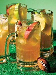 It's called Football Punch. And it's alcoholic. It's like somebody made a drink just for me!