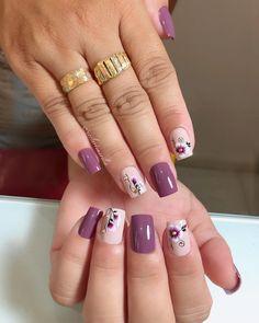 Nail Art Designs Videos, Nail Designs, Floral Nail Art, Manicure E Pedicure, Classy Nails, Types Of Nails, Short Nails, Nail Inspo, Toe Nails