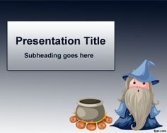 Magician PowerPoint template is a free magic template for PowerPoint presentations with a sorcerer cartoon in the slide design