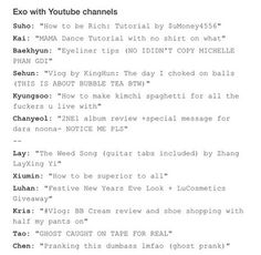 EXO scenarios - with YouTube. The last two - the troll will never stop :) #EXO #scenarios #funny