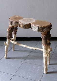 fabien cappello: stools from discarded christmas tree