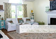 Easy Sew Curtain Panels and a Fabric Giveaway - Mom 4 Real