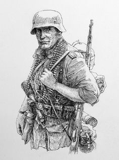 WW2 German Soldier Drawing