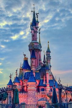 Disneyland Paris, Sleeping Beauty's castle!!!! I MUST go there!!! Disneyland Paris is 100 times better and way cooler than any of our Disneylands. They have EVERYTHING!