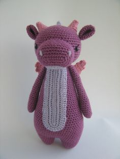 Crochet Amigurumi Pattern  Dragon by LittleBearCrochets on Etsy
