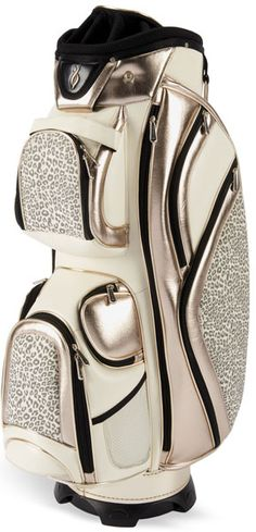 Jogaria golfe com uma dessas, rsrsrs. Nancy Lopez Ladies Diva Cart Golf Bags - Cream & Champagne Leopard