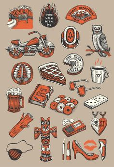 Twin Peaks Icons on Behance