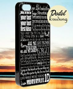 One direction lyric song iPhone 4/4s/5/5c/5s by DODOLKRUDUNG, $14.00