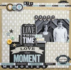 TERESA COLLINS DESIGN TEAM: My 2 Happy Memories Layout by @Leslie Ashe