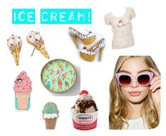 """""""Ice cream"""" by onlinegirl-diii ❤ liked on Polyvore featuring interior, interiors, interior design, home, home decor, interior decorating, Karl Lagerfeld, Kate Spade, A.J. Morgan and icecreamtreats"""
