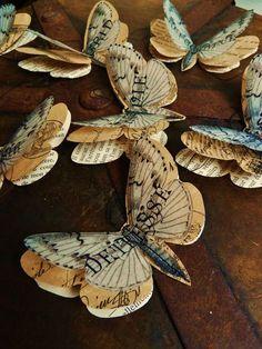 Guignol et Blanche, Papillons en papier - L'Atelier de Drine