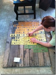 stencil maker/pallet project