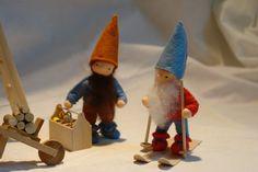 Dwarf Gnome Winter Flower Child Waldorf door KatjasFlowerfairys