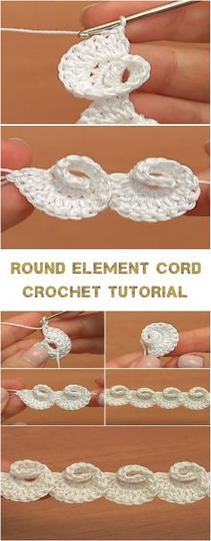 Round Element Cord Crochet Tutorial Good evening my dear knitters and crocheters of the world. First of all, I have a question for you _ did you know about this beautiful round cord? I hope you did not because I'm quite jealous about this kind. Crochet Cord, Crochet Motifs, Freeform Crochet, Crochet Stitches Patterns, Crochet Trim, Diy Crochet, Crochet Crafts, Crochet Projects, Knitting Patterns
