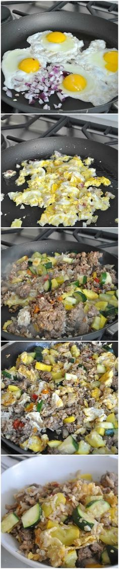 HEALTHY Egg Fried Rice with Extra Lean Ground Turkey & Veggies