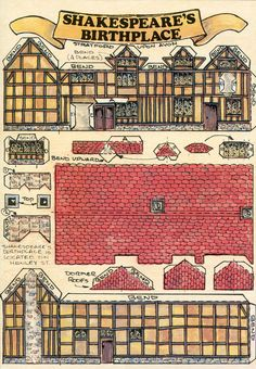 Build Your Own Shakespeare's Birthplace by Fiddler's Green Cards