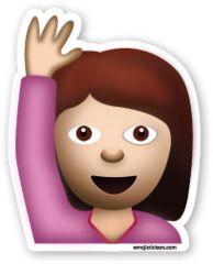 Happy Person Raising One Hand   Emoji Stickers