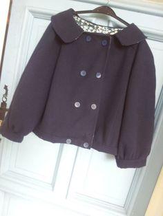 """Petite veste réalisée par Stef Rougeaux-Bontemps avec notre caban """"super doux"""" les 3mètres à 20€"""