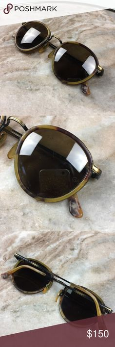 Giorgio Armani Tortoise Shell Round Sunglasses The real deal! Giorgio Armani Round Sunglasses, please see photos for details. Includes off brand hard carrying case for protection! Giorgio Armani Accessories Sunglasses