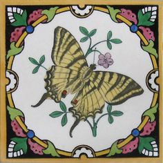Minton Hollins Butterfly Swallow Tail