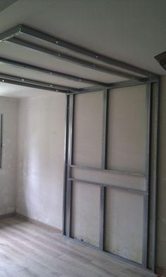 D roch plafond descendu suspendu ilot central decaissement design spots caisson placo platre - Lumiere indirecte faux plafond ...
