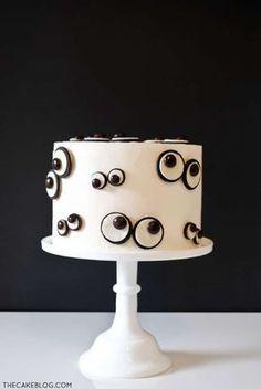 Gâteau yeux de monstres pour Halloween. 17 décorations de gâteaux hyper faciles