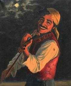 """Gypsy:  """"Smiling #Gypsy,"""" by Fritz Muller."""