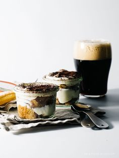 beeramisu recipe - like Tiramisu but with beer (stout actually)   uses mascarpone and ladyfingers. NV: Made it! Was delicious.  Toast the ladyfingers so they don't turn to mush. Very rich. I used this recipe for a regular Tiramisu with gingersnaps and was really good too.