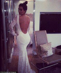 Lady gaga tries on wedding dress
