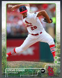 Steve Cishek St. Louis Cardinals Green Paralllel Card 2015 Topps BUNT