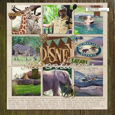 "By Kat - Using Britt-ish Designs' ""Black Friday Grab Bag 2012"" ""Disney Adventurers'"" Disney World Kilimanjario Safaris Digital Scrapbook Layout"