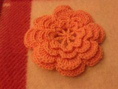 Crochet layered flower