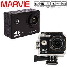 New Arrival Marvie MA30 Ultra HD 4K Sport Camera 30M Waterproof 2.0 Screen 1080P Action Camera Go DV and Car DVRs