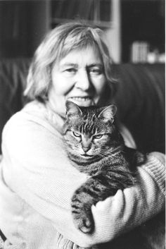 Margherita Hack and her cat.