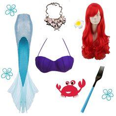 DIY Ariel Halloween Costume