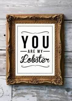 @Molly Hanson Saw this and of course thought of you because you always say you want me to find my lobster!