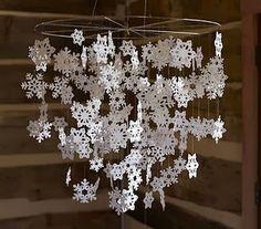 Making Paper Snowflakes, Christmas Snowflakes, Winter Christmas, Christmas Holidays, Christmas Ornaments, Origami Christmas, Christmas Chandelier, Crochet Snowflakes, Family Holiday