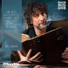 Hablar es gratis pero el hombre sabio elige cuando gastar sus palabras. #NeilGaiman Neil Gaiman, Movie Posters, Movies, Fictional Characters, Web Development, Did You Know, Design Web, Words, Men