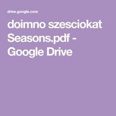 doimno szesciokat Seasons.pdf - Google Drive Busy Boxes, Google Drive, Pdf, Seasons, Chanel, Escape Room, Visual Perceptual Activities, Templates, Speech Therapy
