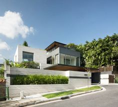 Travertine Dream House is a modern single family home that has been designed by Wallflower Architecture + Design, situated in Serangoon, Singapore. Architecture Design, Architecture Art Nouveau, Residential Architecture, Contemporary Architecture, Amazing Architecture, Building Architecture, Installation Architecture, Architecture Panel, Architecture Portfolio