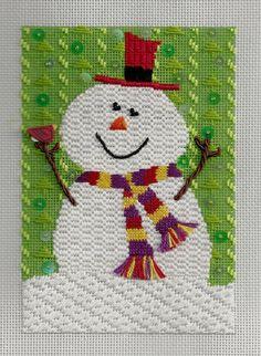 The Needle Bug needlepoint snowman