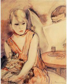 Frau Mit Katze, Jeanne Mammen