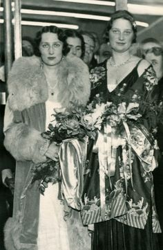 Queen Astrid of Belgium with sister, Crownprincess Martha of Norway.