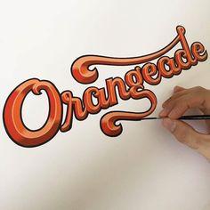 Beautiful hand painted work by @eddyartist - #typegang - typegang.com http://typg.co/2fZcZU4 | http://typegang.com